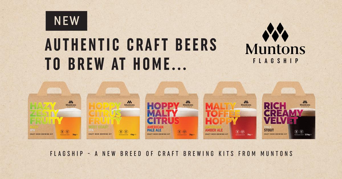 Image showing Muntons' five new Flagship Homebrew Kits